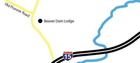 I-15 Beaver Dam Lodge Map
