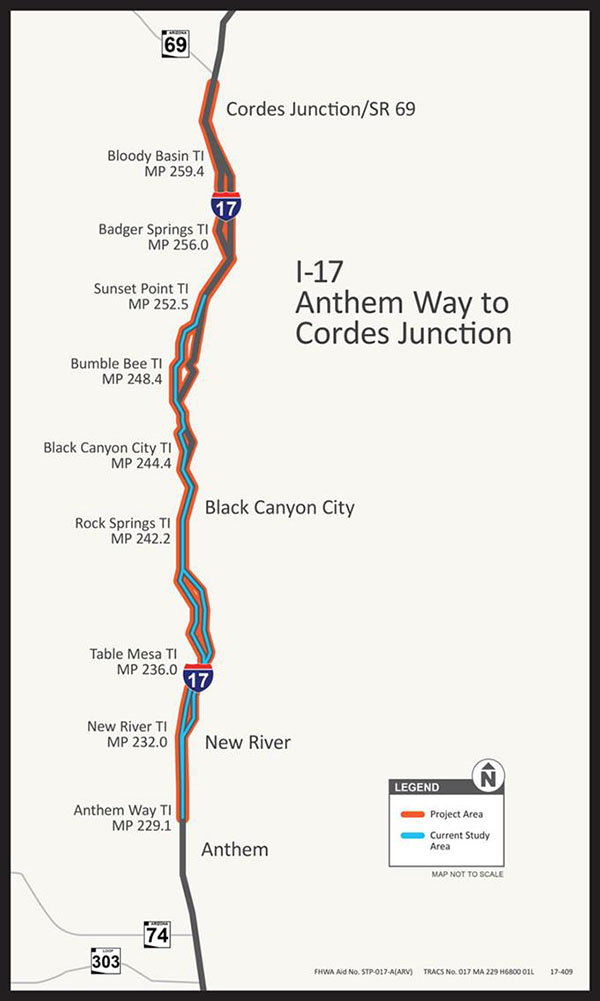 I-17: Anthem Way to Cordes Junction Study Map