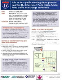 I-17: Indian School Road Traffic Interchange Study Meeting Invitation