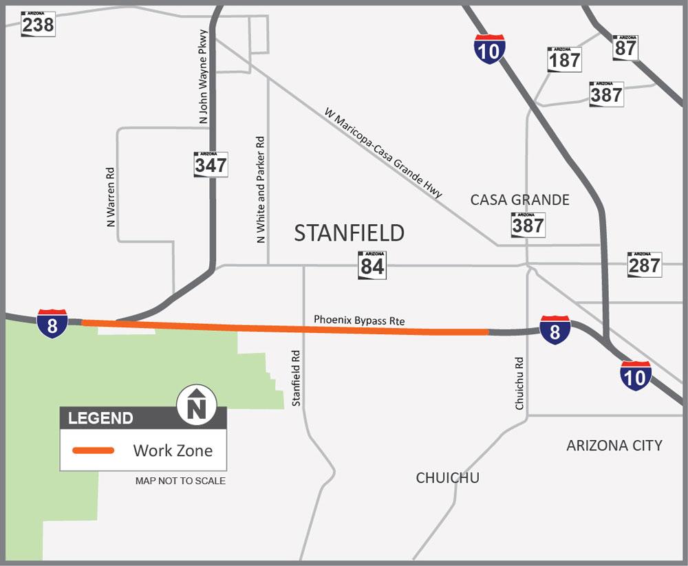 I-8-pavement-project-near-Stanfield-map