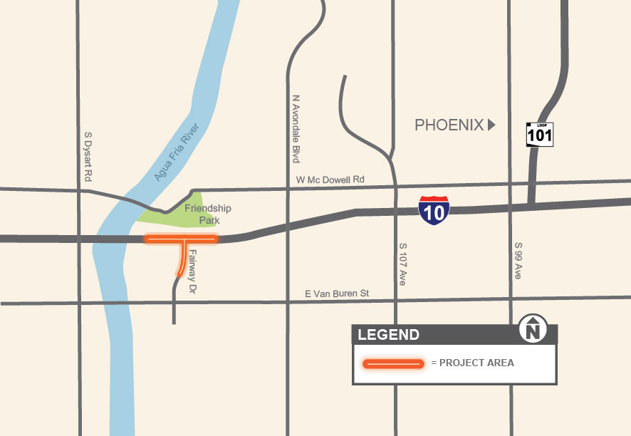 Project Map - I-10 Avondale TI