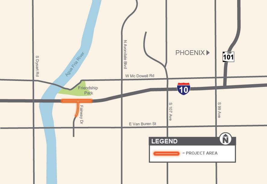 I-10: New Traffic Interchange at Fairway Drive | ADOT on i-93 map, i-64 map, houston map, route 10 map, i-55 map, i-4 map, route 66 map, i-85 map, loop 9 map, i-5 map, i-70 map, florida's turnpike map, i-35 map, i-40 map, u.s. route 40 map, interstate 10 map, i-95 map, i 30 map, interstate 20 map, i-20 map,
