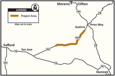 US 191 Pavement Preservation Project Map