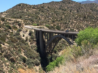 Distance view of Pinto Creek Bridge