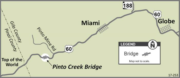 Pinto Creek Bridge Project Map