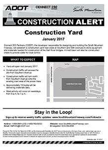 Loop 202 (South Mountain Freeway) Construction Yard Alert - January 2017