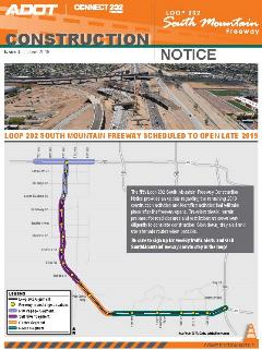 South Mountain Freeway Construction Notice #5 cover