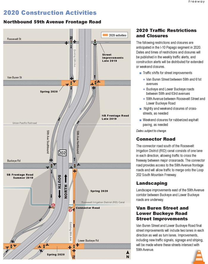 2020 Construction Activities - Northbound 59th Avenue Frontage Road