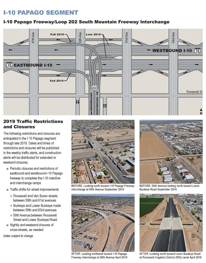 I-10 Papago Segment Schedule - I-10 papago Freeway/Loop 202 South Mountain Freeway Interchange