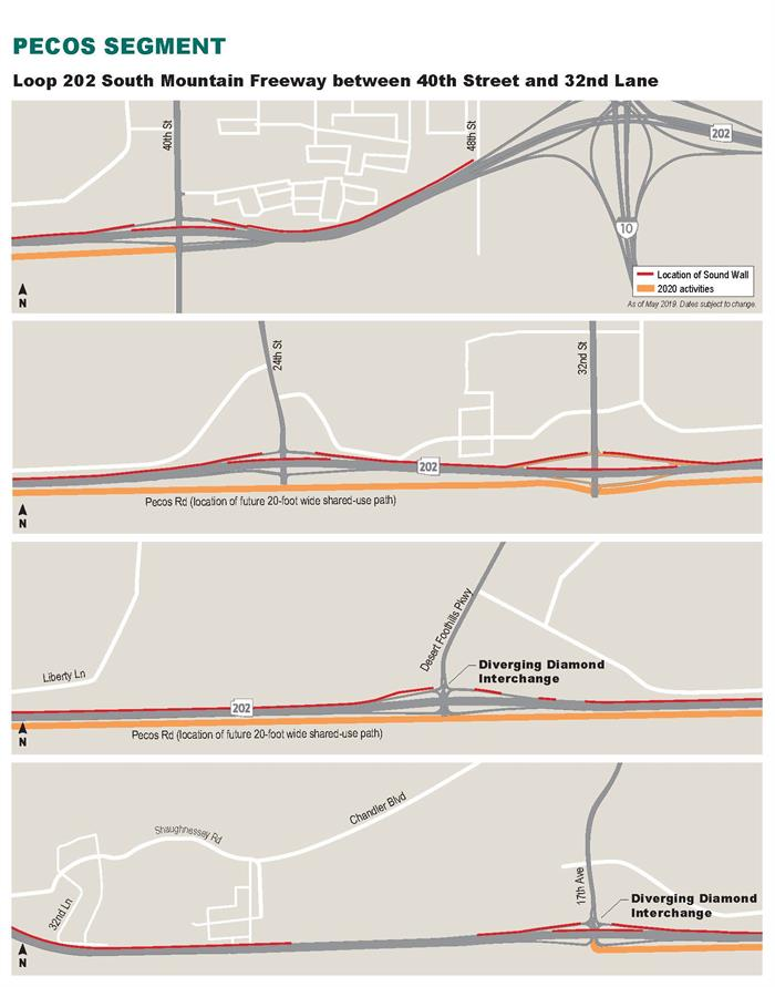Pecos Segment Schedule - Loop 202 (South Mountain Freeway)