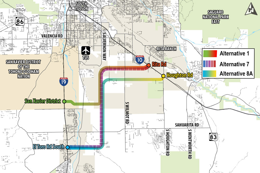 Sonoran Corridor Alternatives Map
