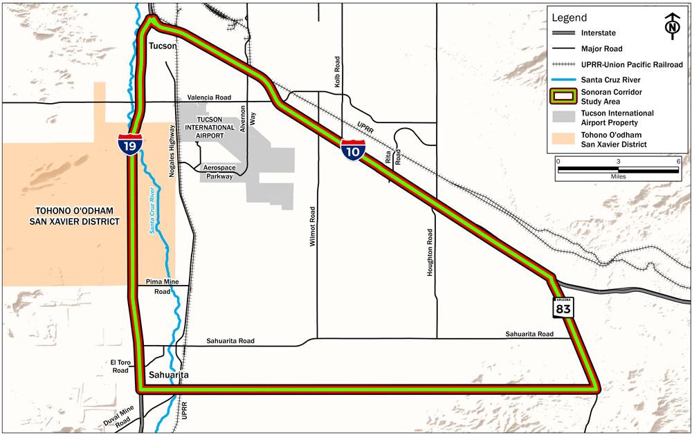 Sonoran Corridor Vicinity Map