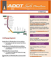 South Mountain Freeway Project Example Alert