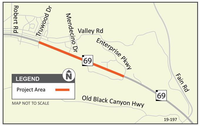 SR 69: Truwood Drive to Enterprise Parkway, Prescott Valley Project Map