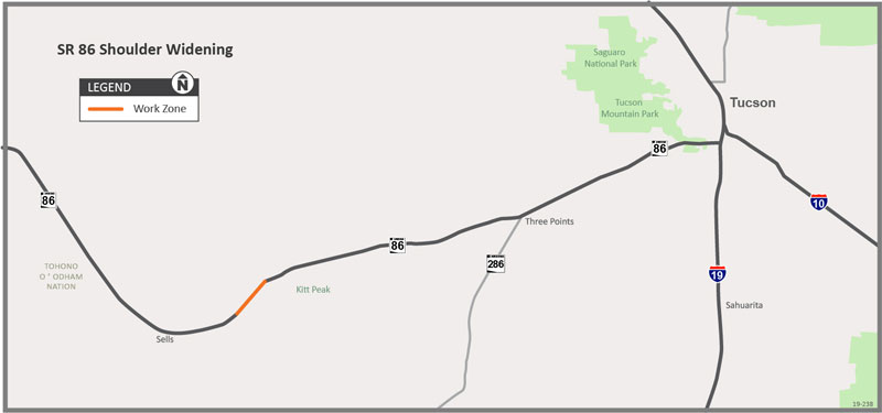 SR -86 Shoulder widening project area map