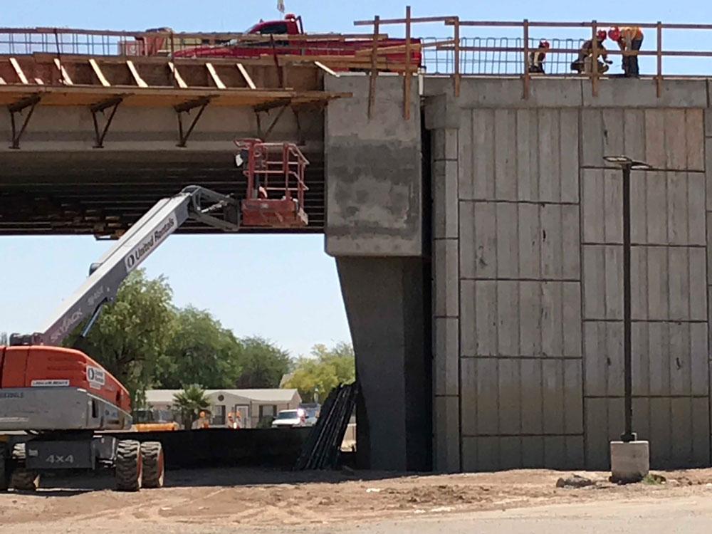 Work on overpass