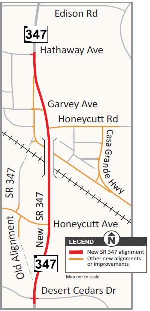 SR 347 Union Pacific Railroad inset map