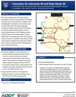 Project Flyer: Interstate 10, Interstate 40 and State Route 95 POE Truck Screening Improvement Project | Ehrenberg, San Simon, Topock, Sanders and Parker