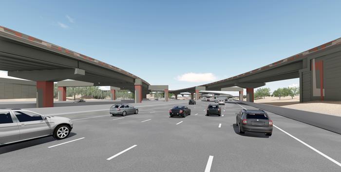 Aesthetic Rendering: Urban Link Pattern - Papago Segment - I-10 Westbound
