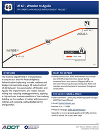 US 60: Wenden to Aguila / Centennial Wash to Aguila Project Flyer