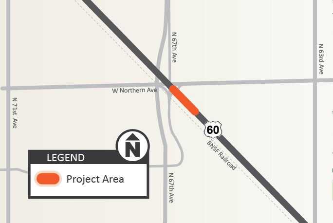 US 60 Northern Road Intersection Project Map