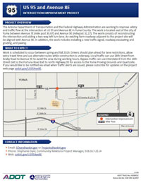 Project Flyer: US 95 and Avenue 8E Intersection Improvement Project