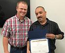 Anthony Torres accepting Spirit Award