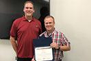 Michael Rigby accepting Spirit Award