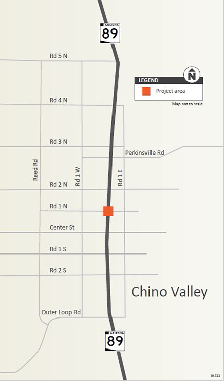 Project Area Map: SR 89 at Road 1 North Road, Chino Valley