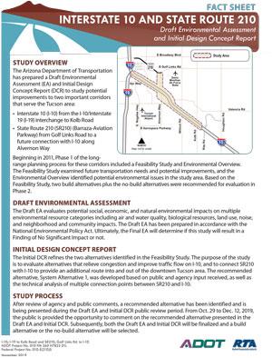 I-10 and SR210 Fact Sheet