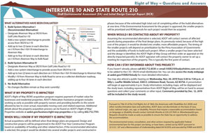 I-10 and SR210 Right of Way Questions