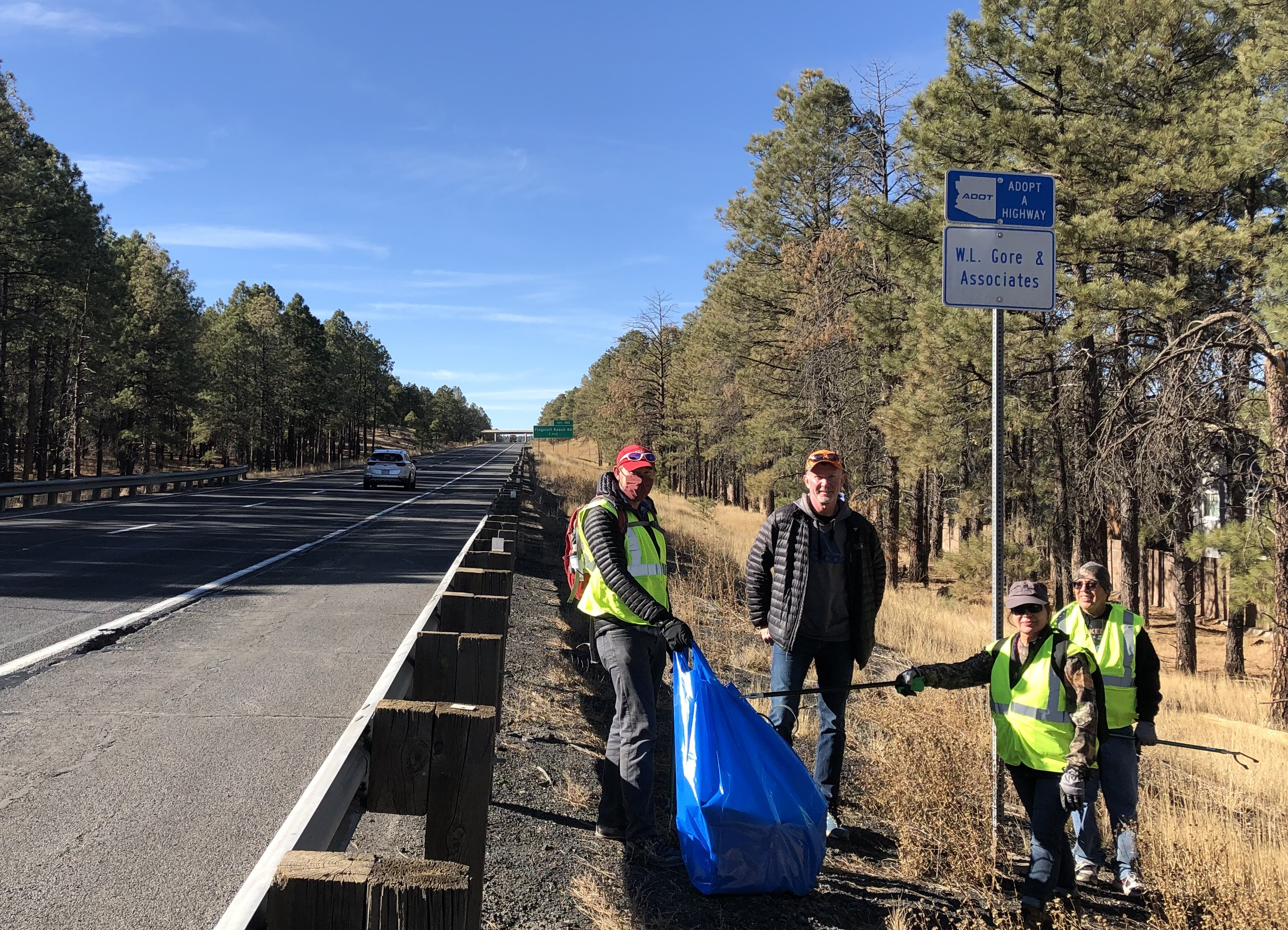 WL Gore and Associates litter cleanup