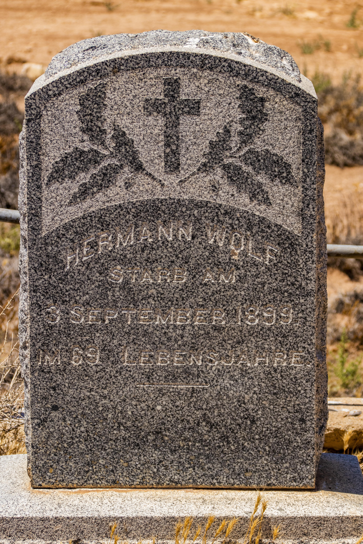 Grave Stone, Hermann Wolf