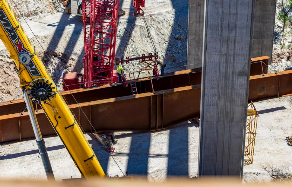 Work on Pinto Creek Bridge