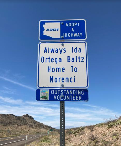 Volunteer Adopt a Highway sign