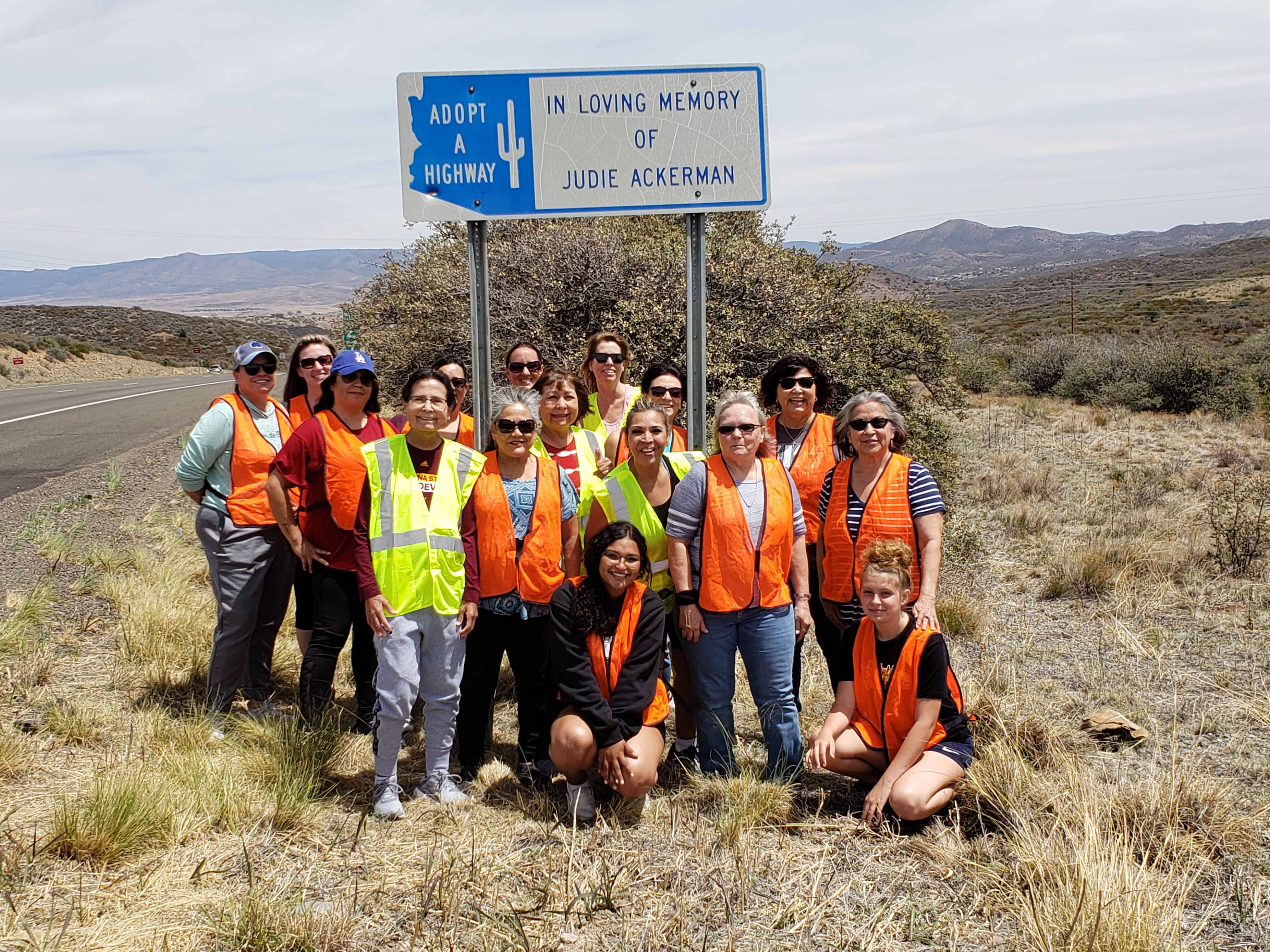 Adopt a Highway volunteer group photo