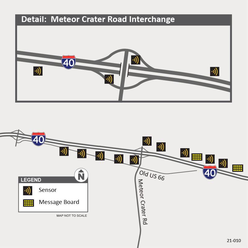 I-40 Smart Work Zone Meteor Crater Bridge