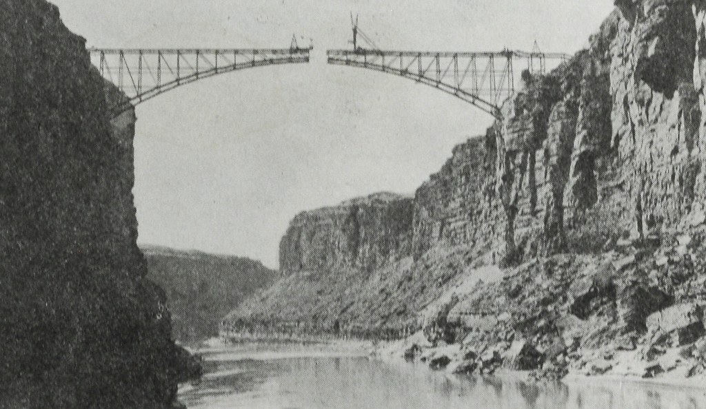 Navajo Bridge under construction