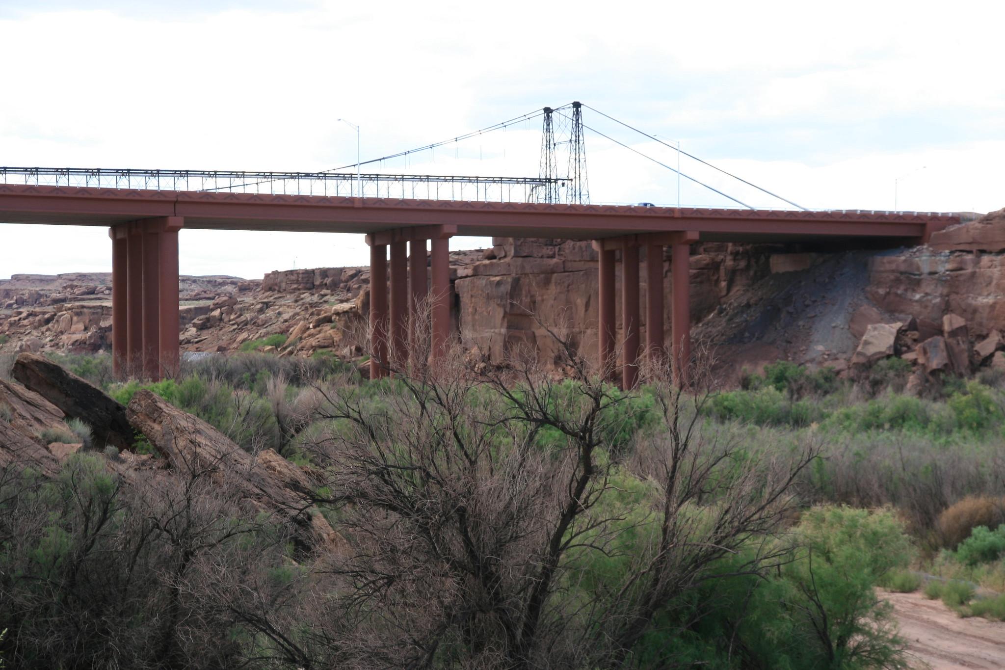 The new bridge over the Little Colorado River near Cameron