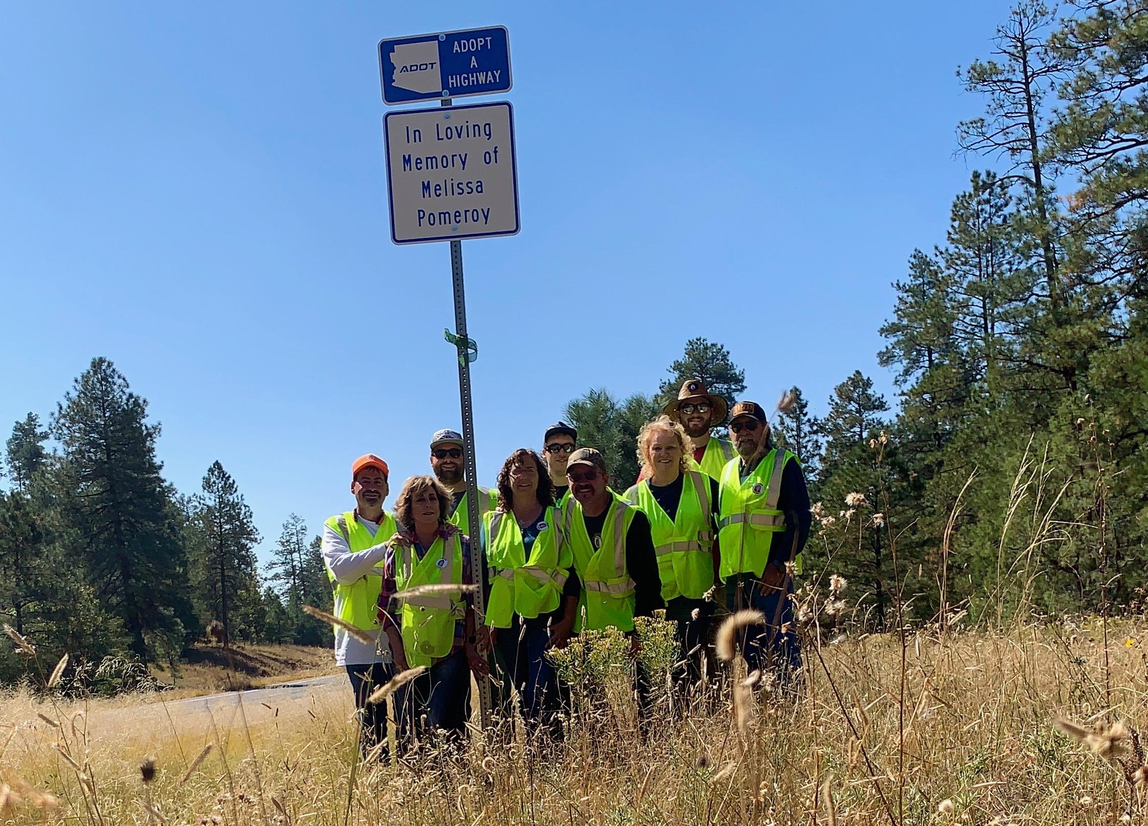 Adopt a Highway volunteer Show Low US 60 in memory of Melissa Pomeroy