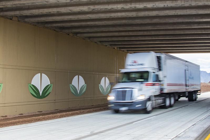 Truck on I-10