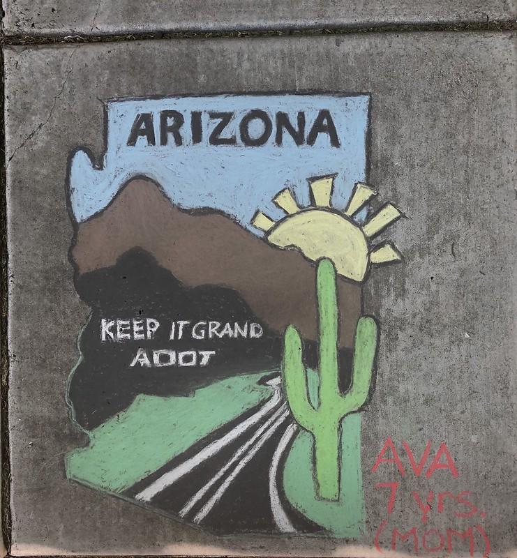 Keep It Grand chalk art