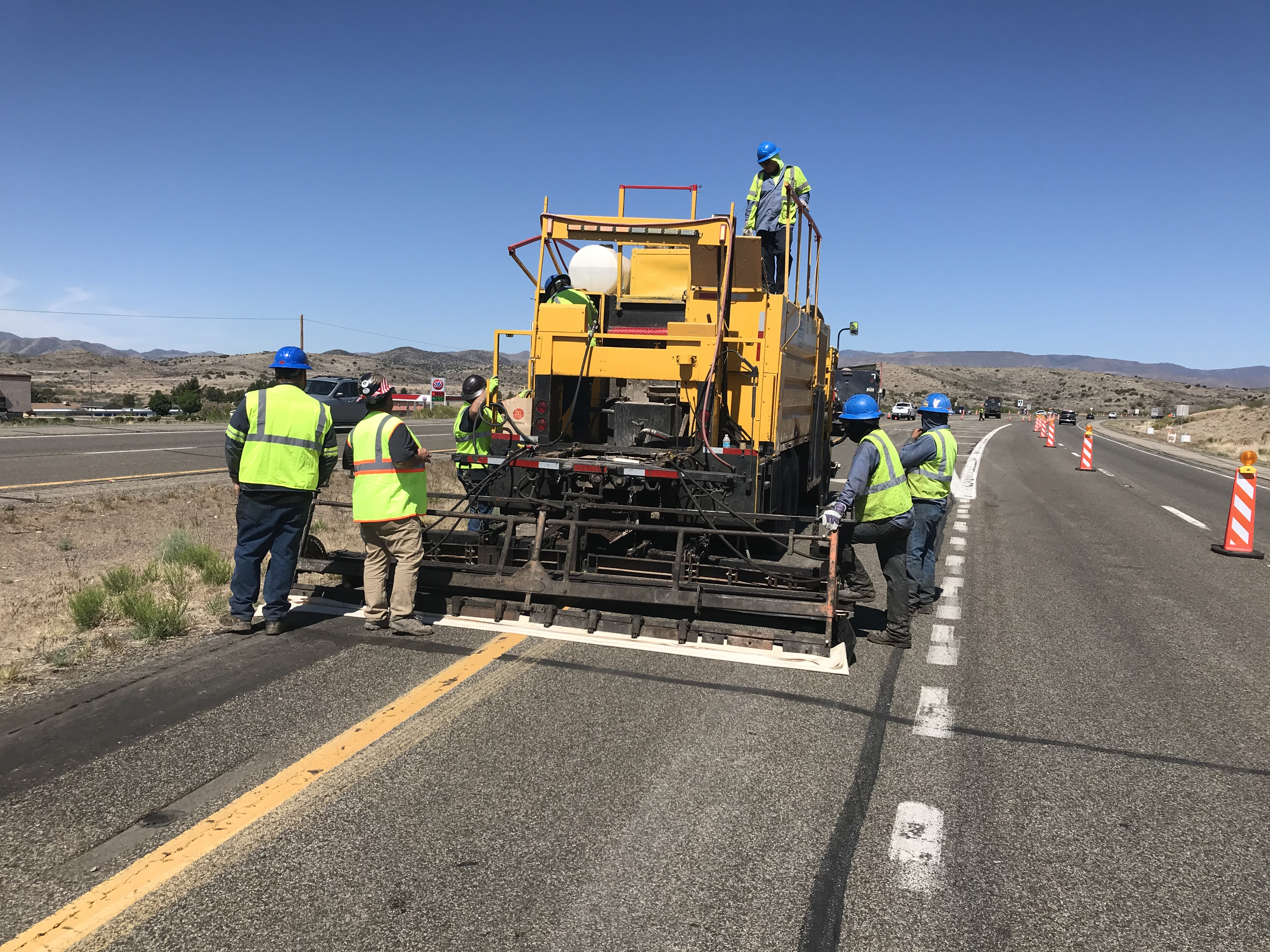 Pavement preservation microseal State Route 69