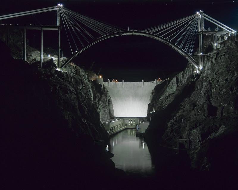 Throwback Thursday Mike O'Callaghan-Pat Tillman Memorial Bridge construction night work photography