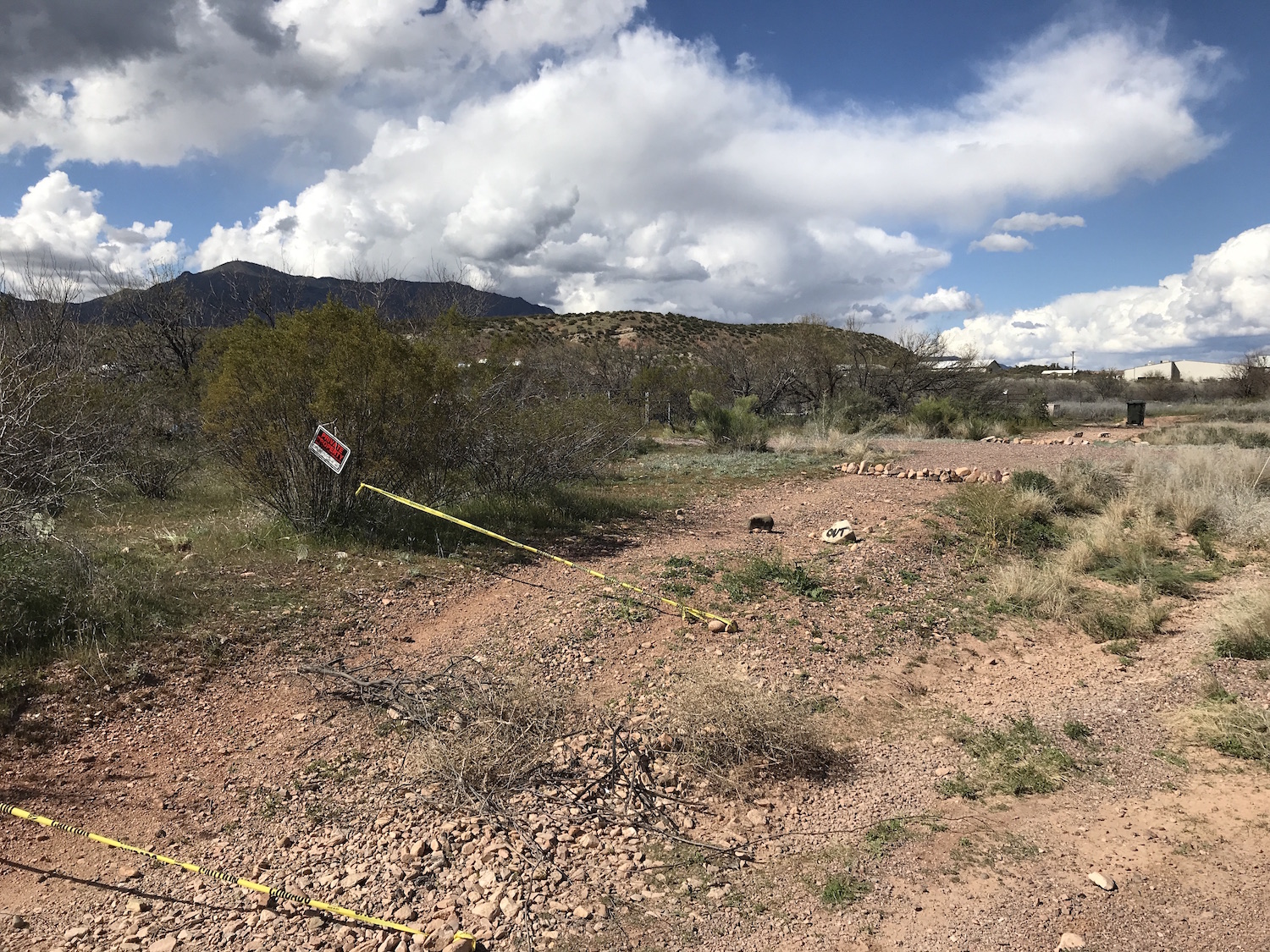 Photo of damage from all-terrain vehicles along SR 188
