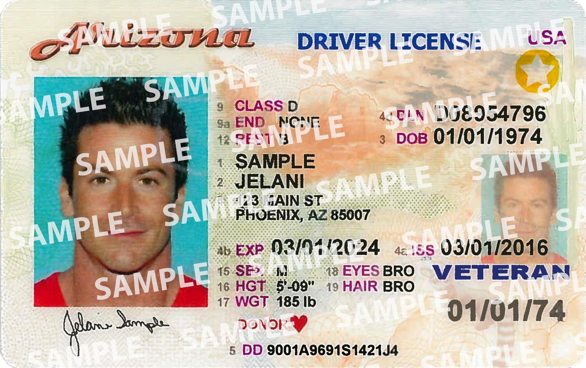 AZ Driver License Travel ID