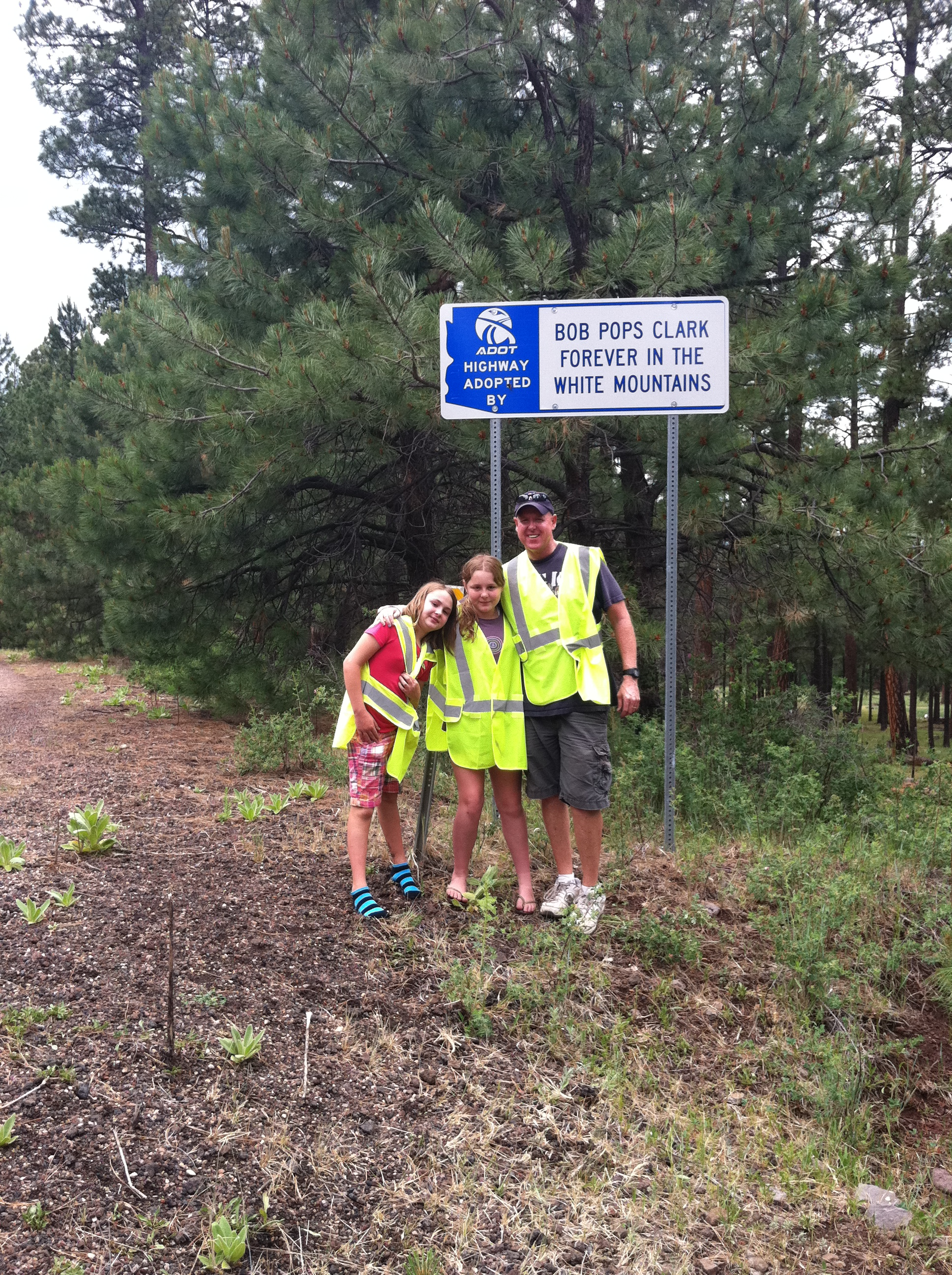 Adopt a Highway Clark family