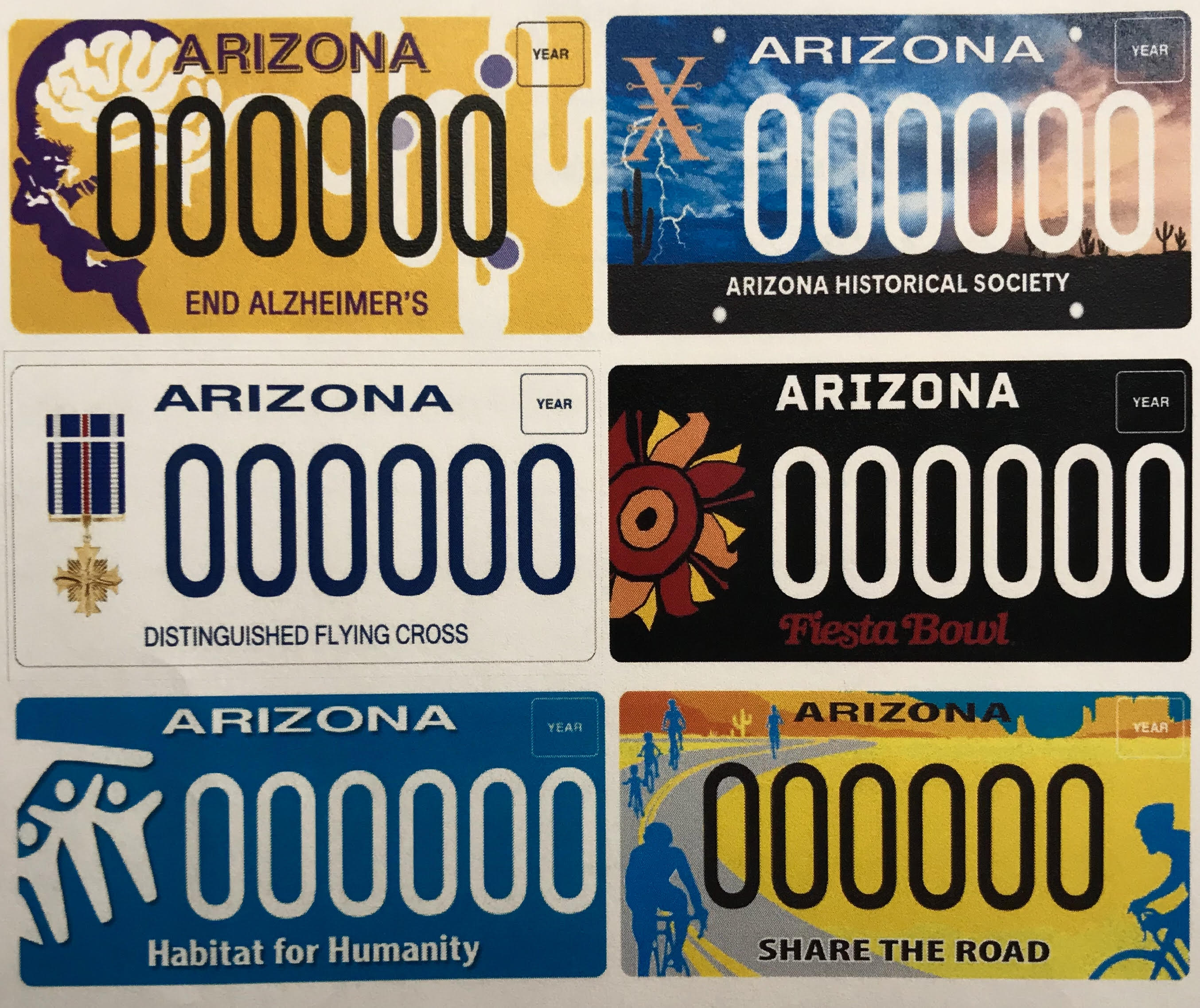 New specialty plates