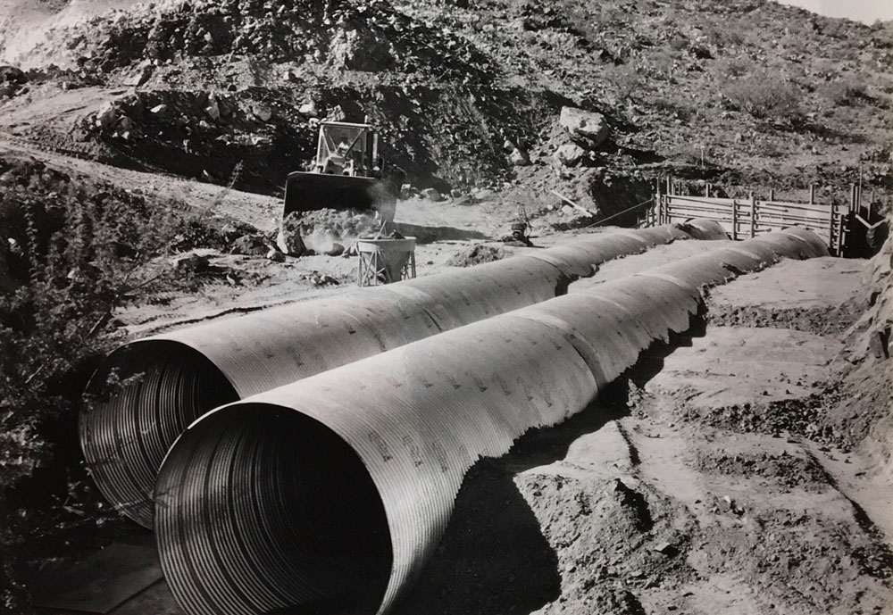 Drainage pipes installed during widening of SR 96