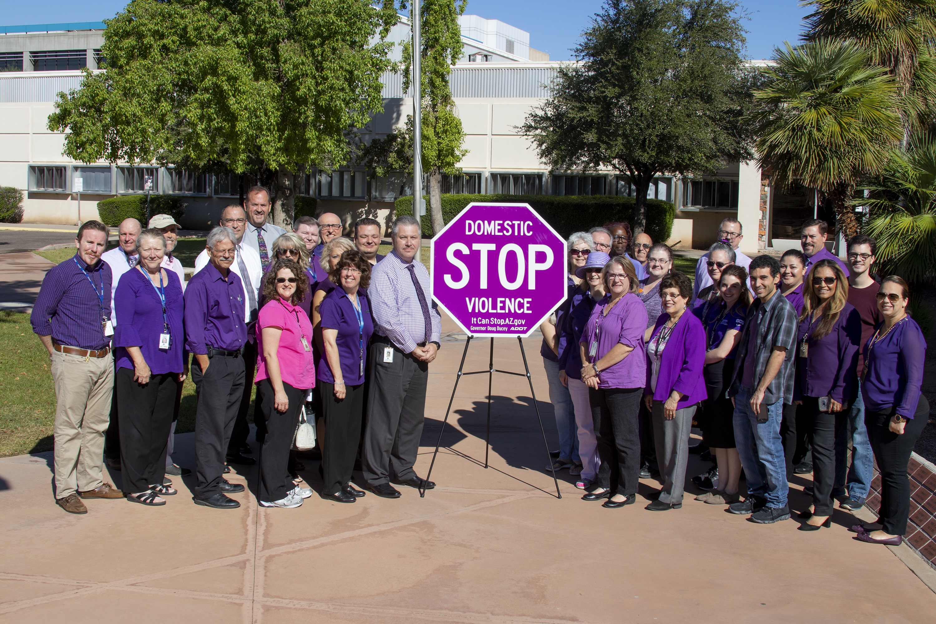 ADOT employees wear purple for DV Day Oct 2018